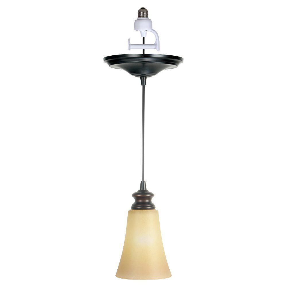 Worth Home Products Instant Screw In Pendant Light With Amber