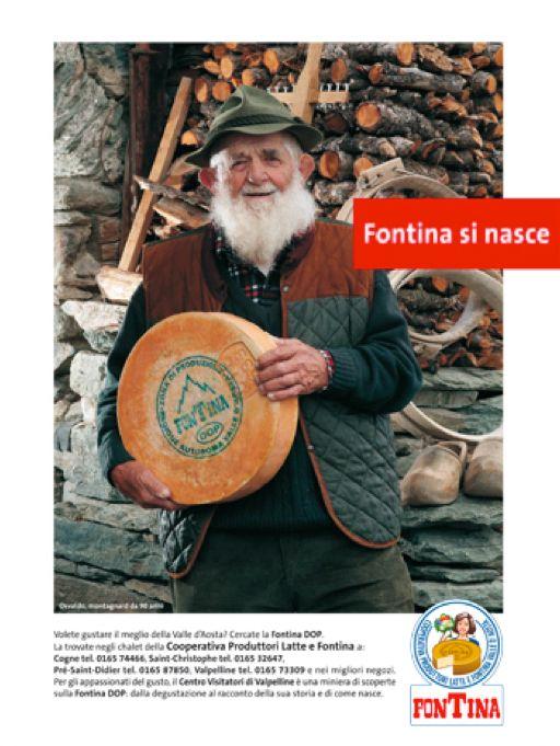 Fontina si nasce - campagna pubblicitaria di  Mauro Marinoni per la Cooperativa Produttori latte e fontina