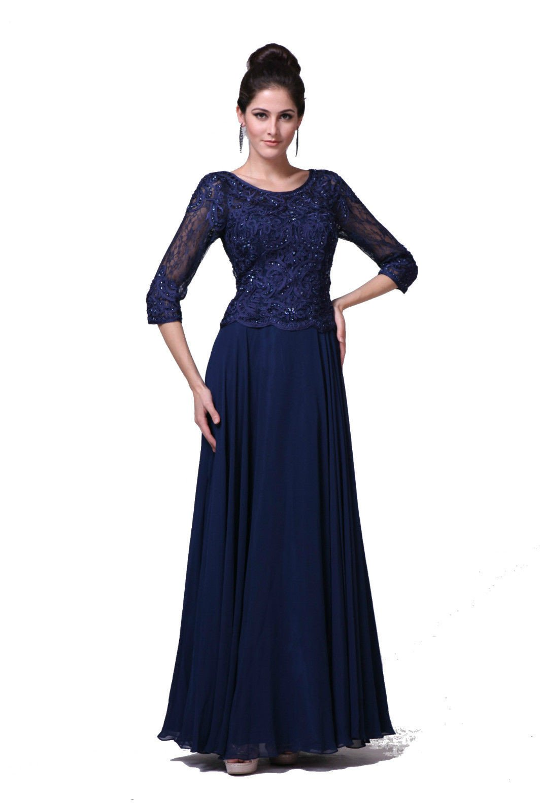6310a38038b This beautiful mother of the bride long dress comes with 3 4 sleeve