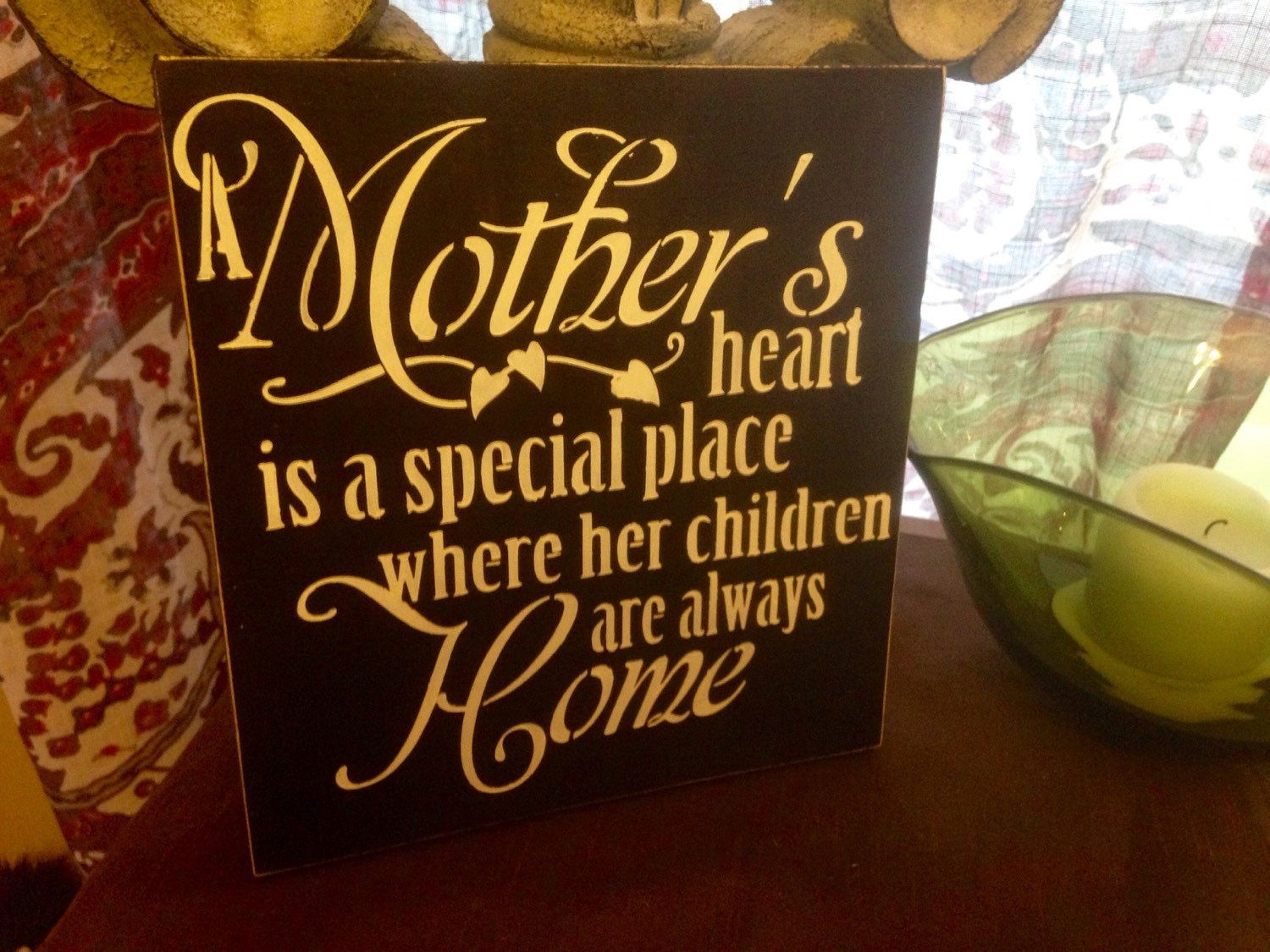A personal favorite from my Etsy shop https://www.etsy.com/listing/269714539/a-mothers-heart-where-her-children-are