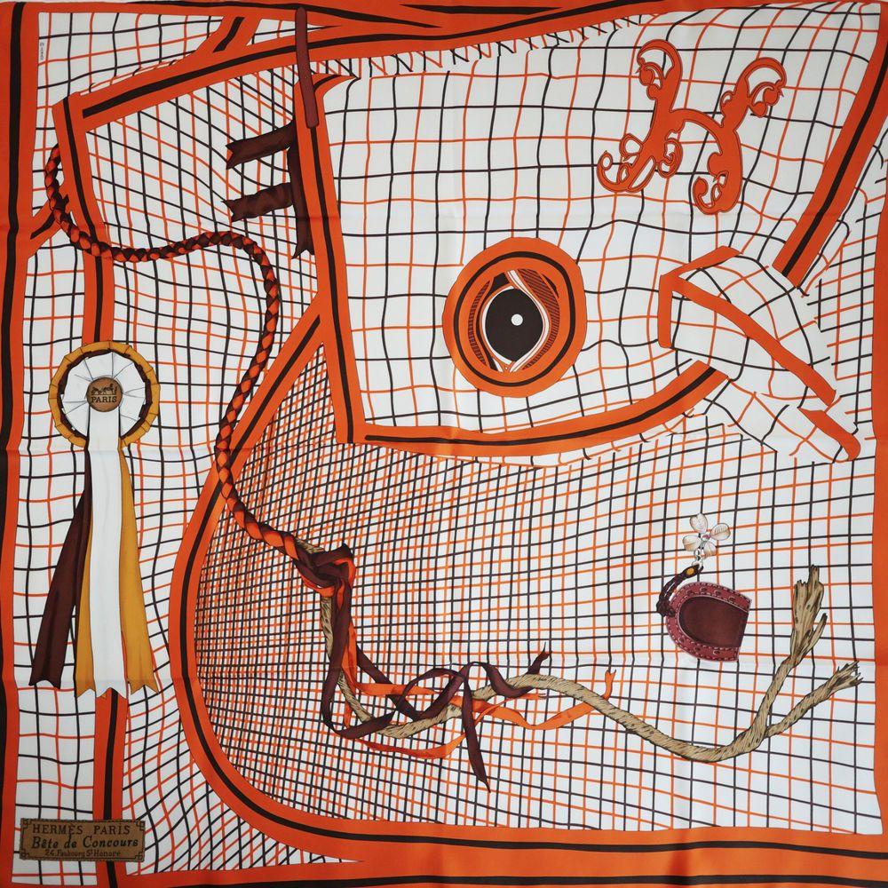 RARE!! NEW HERMES Bête de Concours SILK SCARF by Robert Dallet