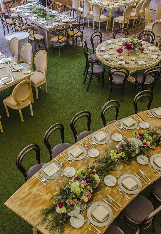 decoración para boda #greenery | eventos en jardín en 2019