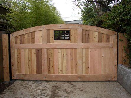 Wooden Single Swing Driveway Gate Automatic Gates