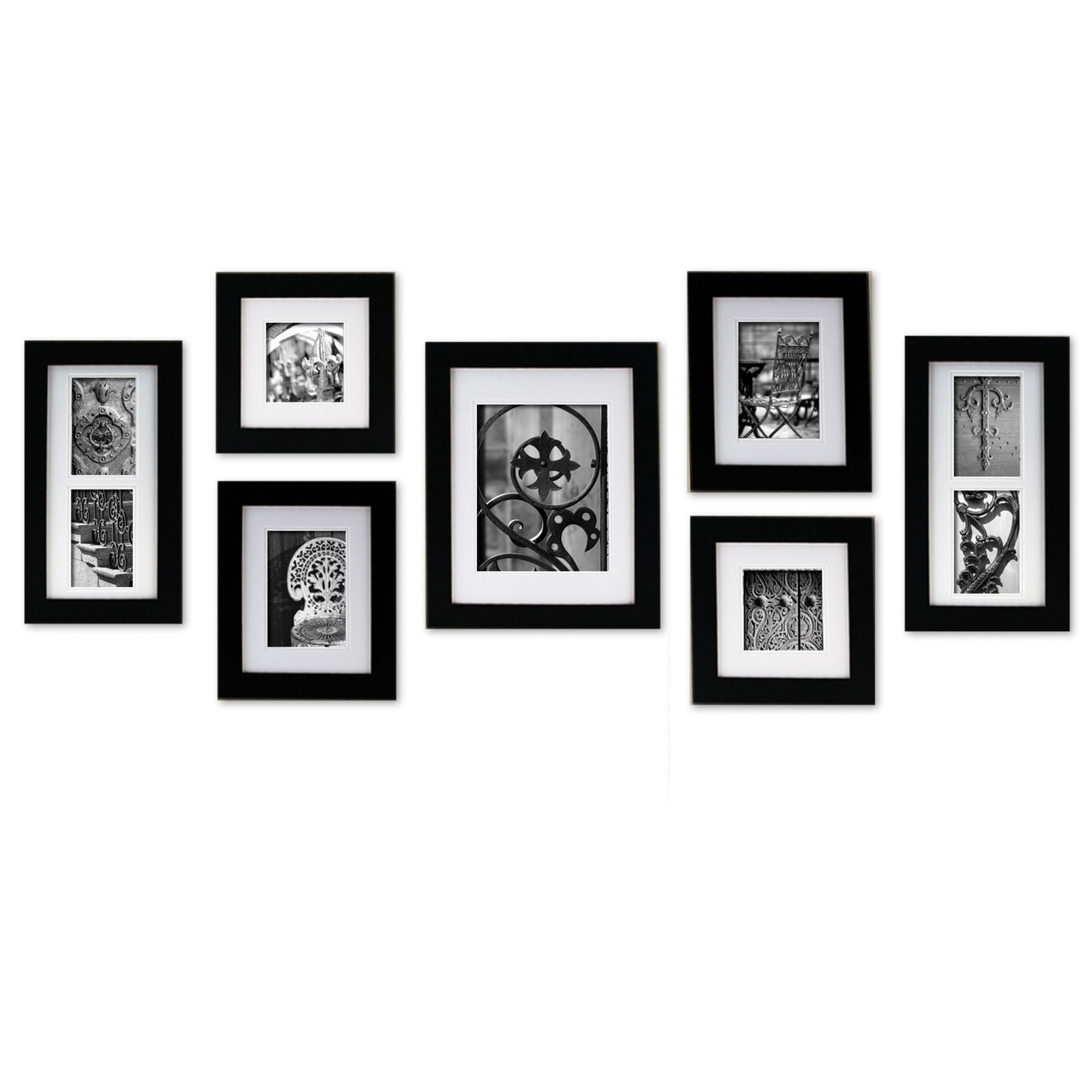 Nielsenbainbridge gallery 7 piece portrait picture frame set nielsenbainbridge gallery 7 piece portrait picture frame set allmodern jeuxipadfo Gallery