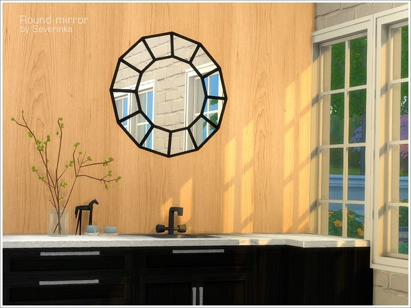 Wall mirror Round Found in TSR Category \'Sims 4 Mirrors\' | Sims ...