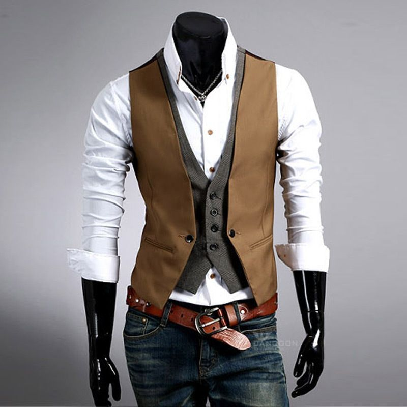 2015 autumn Fashion New Basic Casual Suit Vest Men, Brand Quality ...