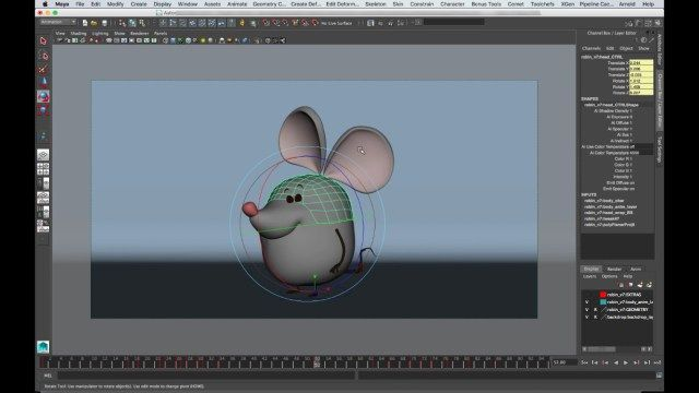 Deforming Animation Control on Geometry For Character Ring