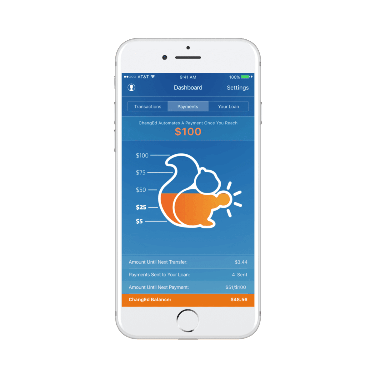 An app that collects your spare change for a HUGE impact