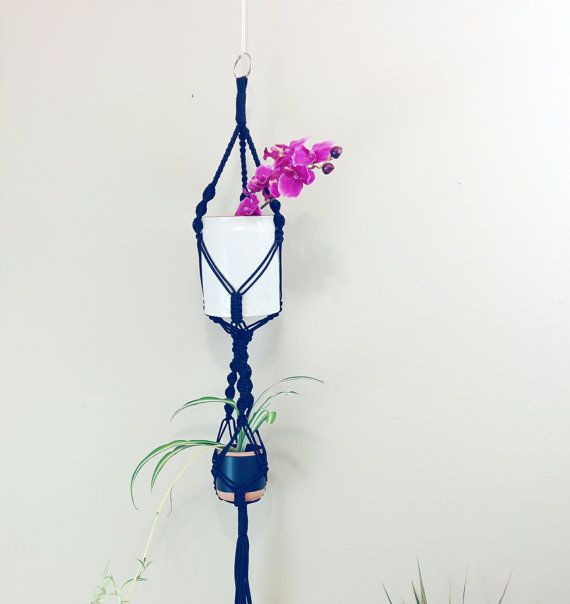 Modern macrame plant hanger hanging planter indoor by freefille