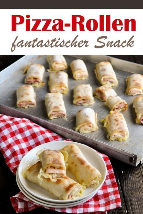 Pizza-Snack-Rollen. Lecker! -