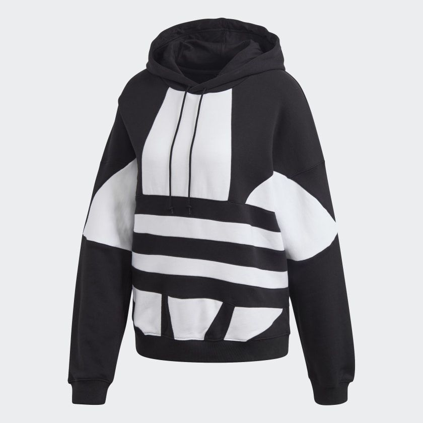 Photo of adidas Large Logo Hoodie – Black | adidas US