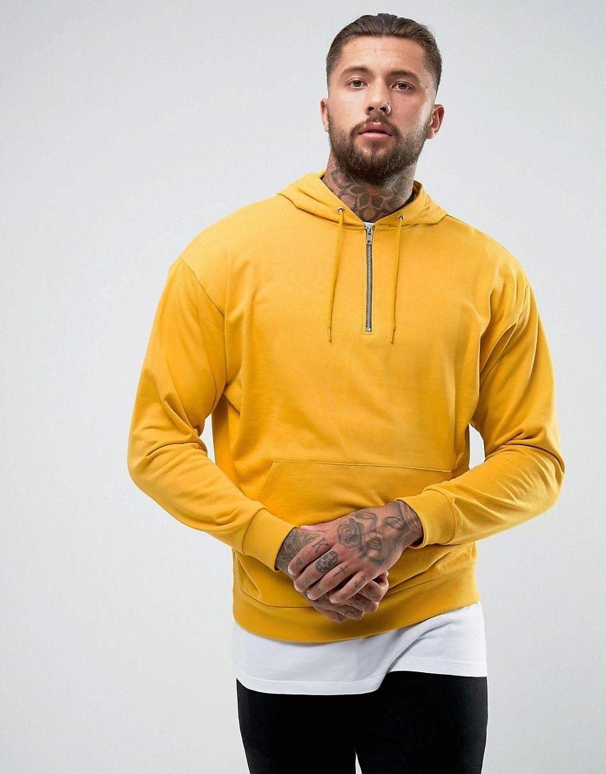 Get This Asos S Hooded Sweatshirt Now Click For More Details Worldwide Shipping Asos Oversized Half Zip Hooded Sweatshirt Men Asos Menswear Half Zip Hoodie [ 1110 x 870 Pixel ]