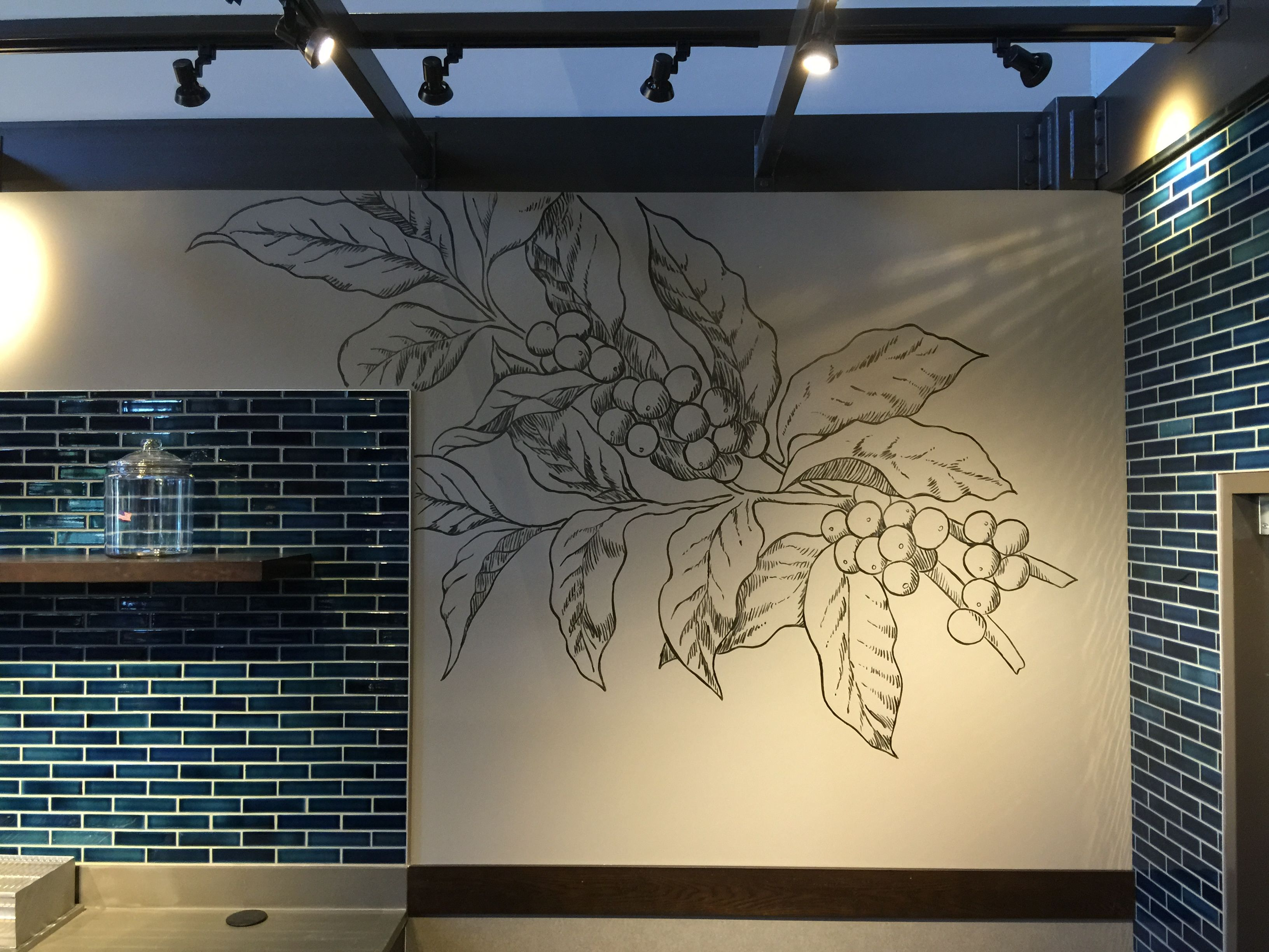 coffee branch mural at the starbucks in harrah u0027s casino murphy