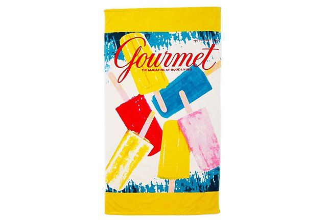 Conde Nast Beach Towel Gourmet Fun Beach Towels Beach Towel