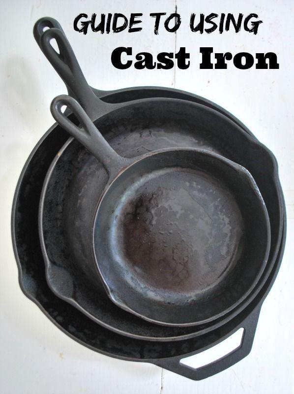 using cast iron 101 homesteading survival pinterest cast iron skillet cast iron and. Black Bedroom Furniture Sets. Home Design Ideas