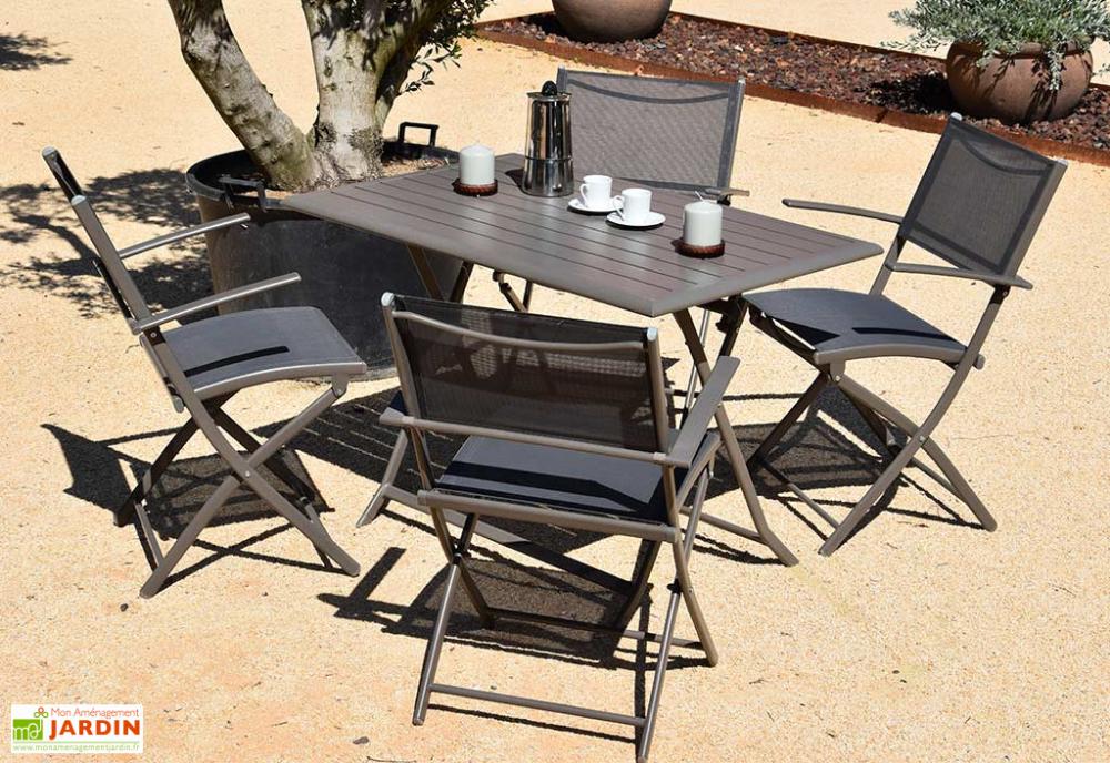 Table De Jardin Pliante En Aluminium Taiga Anthracite 70 X 110 Cm En 2020 Table De Jardin Pliante Table De Jardin Mobilier Jardin