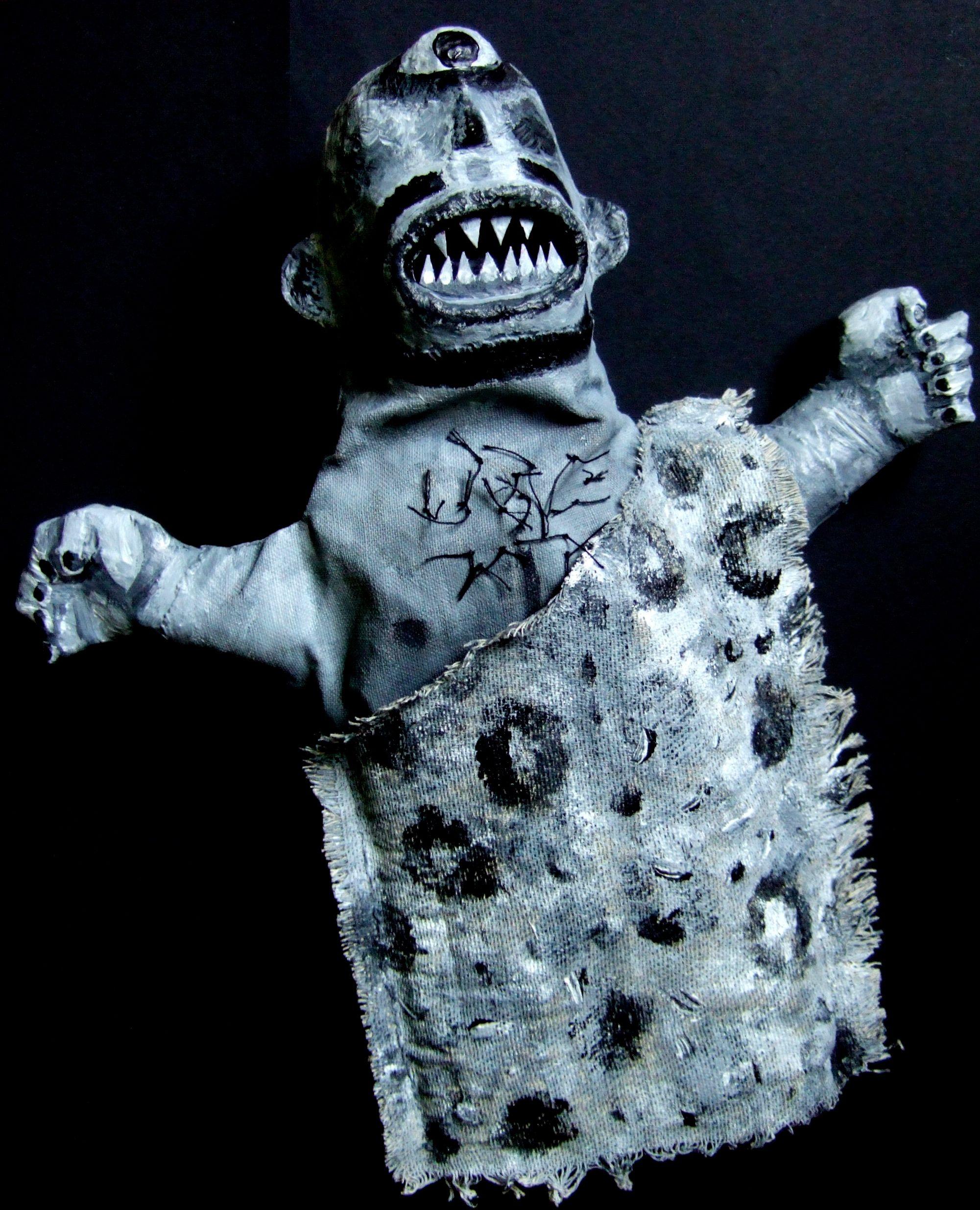 Clive Hicks-Jenkins – Cyclops glove-puppet