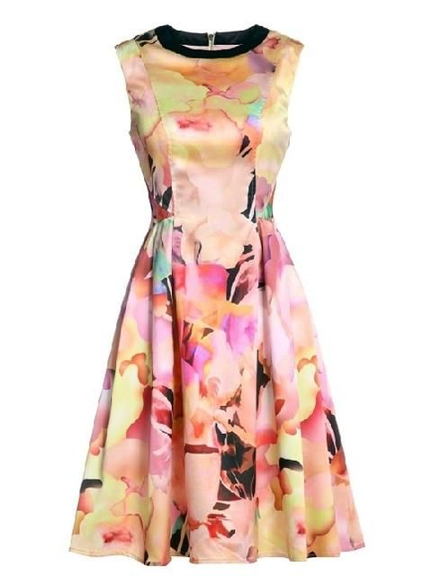 JOLLYCHIC.COM: Jollychic Aristocratic Temperament Printed O-Neck Party Dresses For Women Buy Now $60.0 Find at Faearch