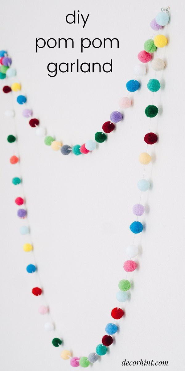 Photo of Quick and Easy DIY Pom Pom Garland