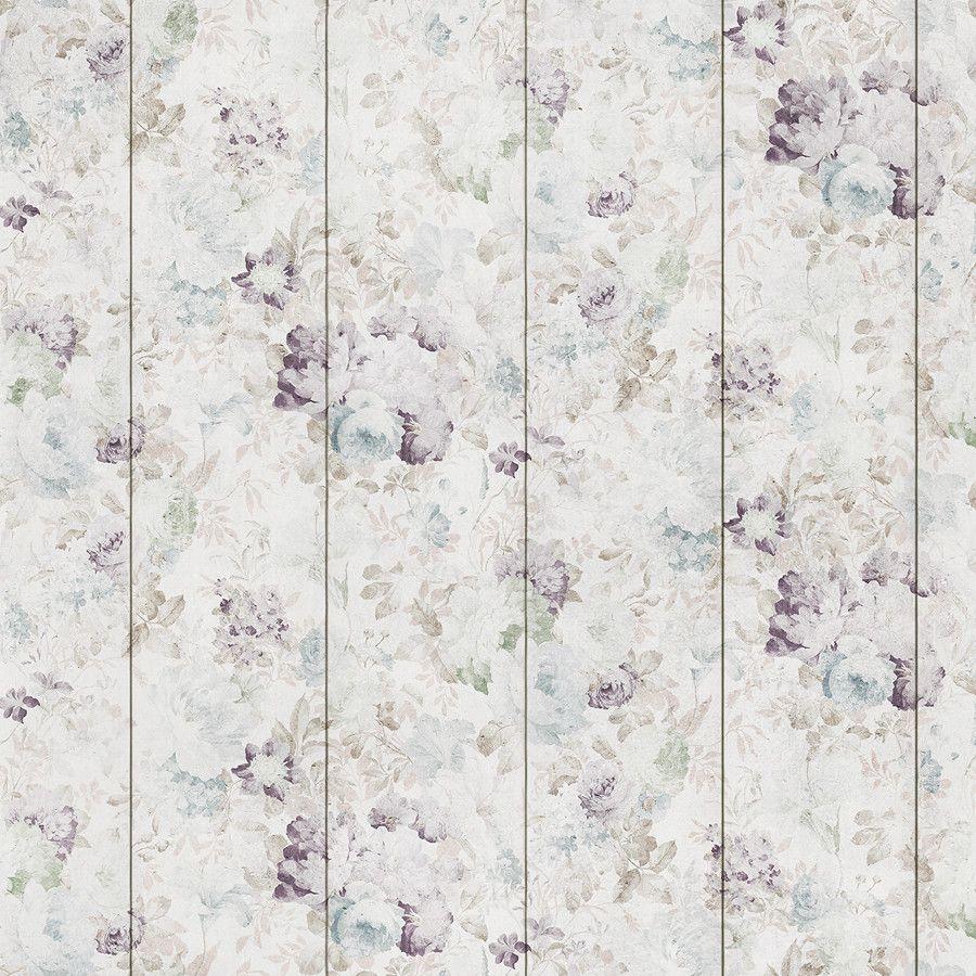 Purple Flowers Removable Wallpaper