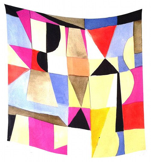 This Vitrine and Sarah Crowner scarf is so beautiful, I don't know if I would wear it or hang it on my wall.