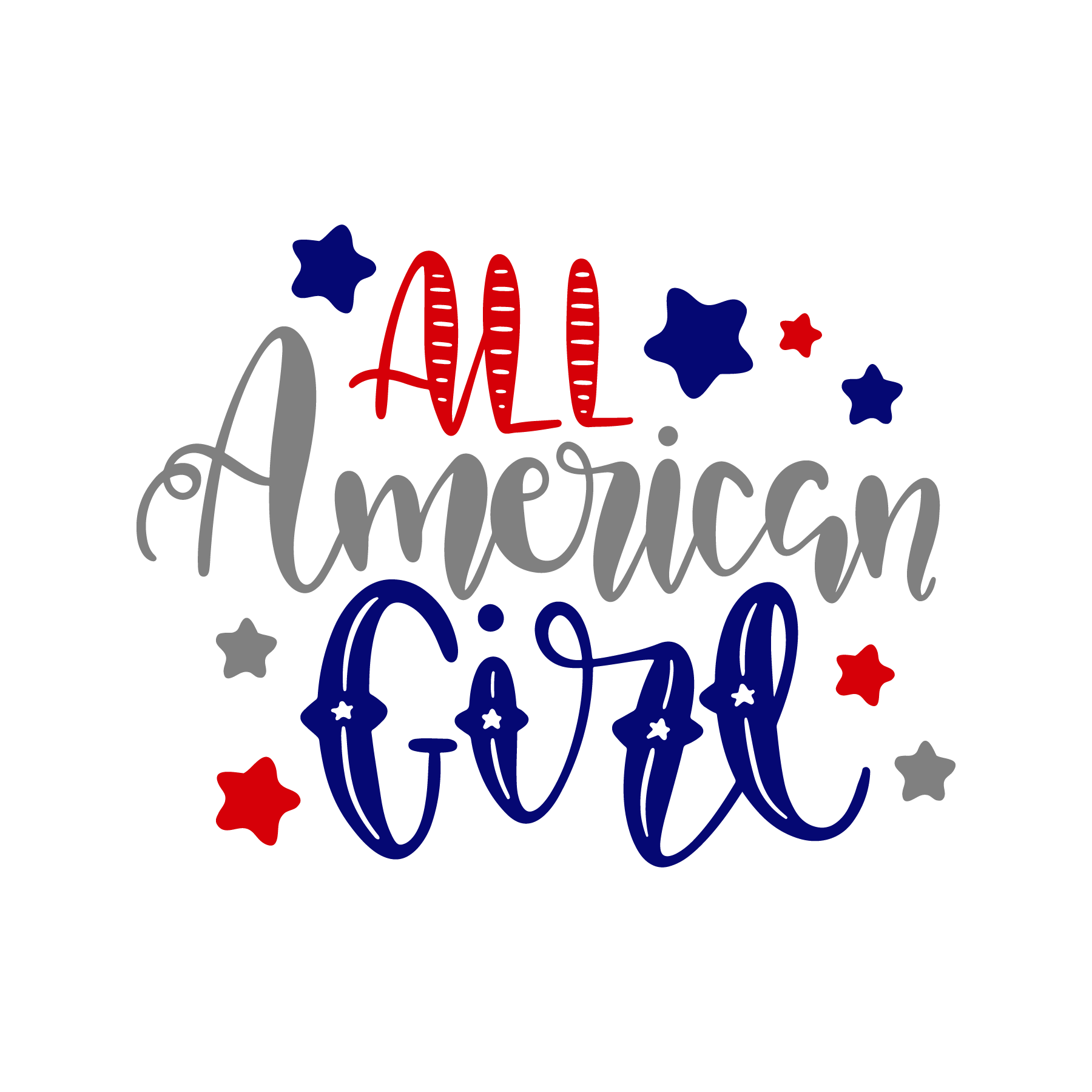 All American Girl Commercial Use Ok All American Girl Fourth Of July Shirts Girls Shirts Vinyl