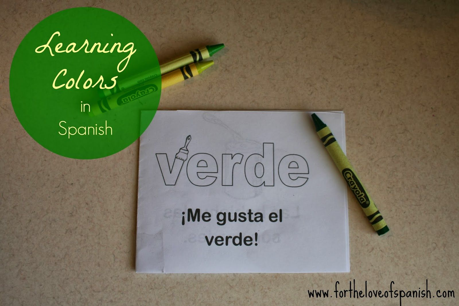 Free Printable Book About The Color Green In Spanish From Www Fortheloveofspanish
