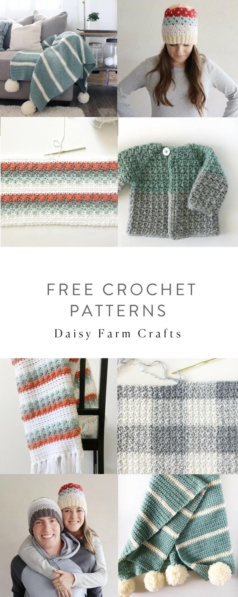 Free Crochet Patterns - Daisy Farm Crafts | BEBES | Pinterest | Bebe