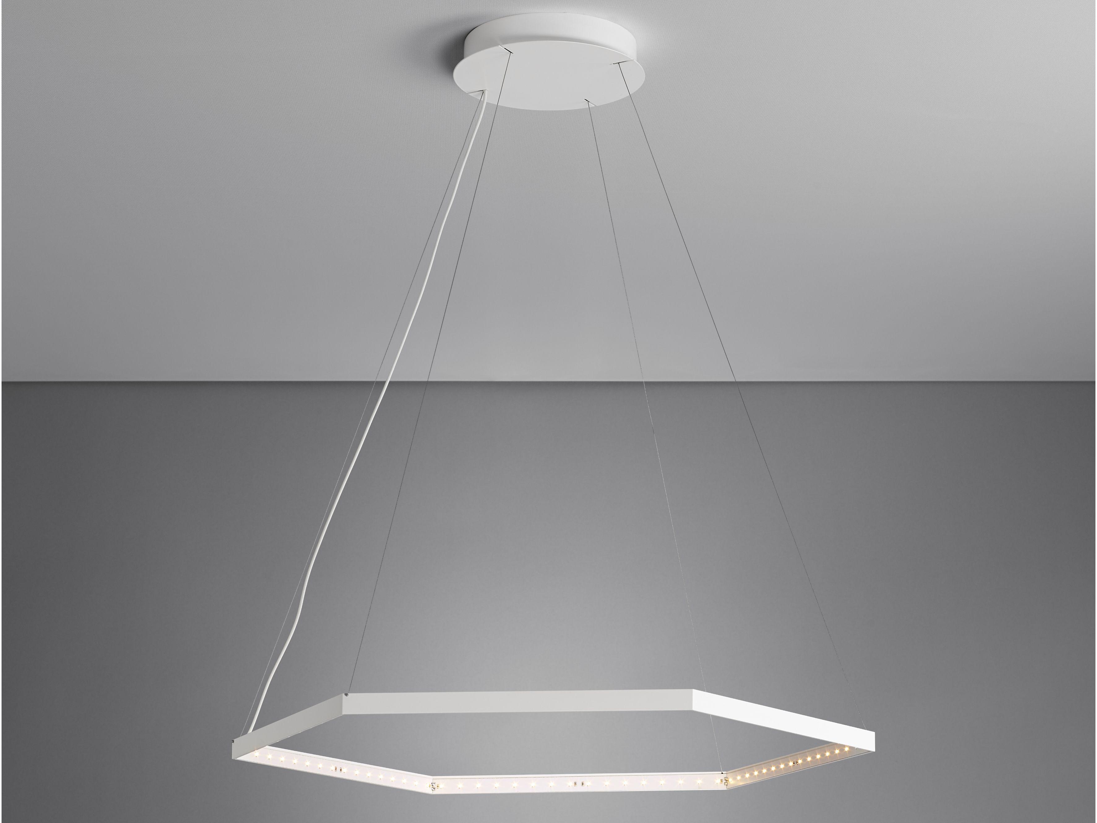 Led Direct Light Indirect Light Steel Pendant Lamp Hexa 1 By Le Deun Luminaires Pendant Lamp Lamp Acrylic Chandelier
