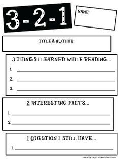 Exit Ticket Template  Google Search  For My Classroom