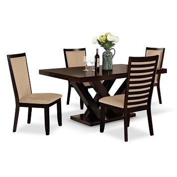 Stupendous Tempest Paragon Dining Room 5 Pc Dinette Value City Ibusinesslaw Wood Chair Design Ideas Ibusinesslaworg