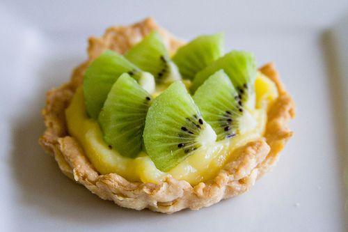Kiwi Lemon Curd Tartlets