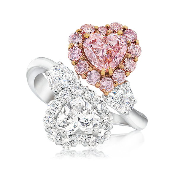 Cellini Jewelers Pink Diamond Ring Fancy Color Diamond Ring Pear Shaped Diamond Ring