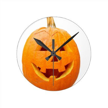 Halloween 6 round clock - #halloween #party #decor #ideas #celebrate - halloween party decoration ideas