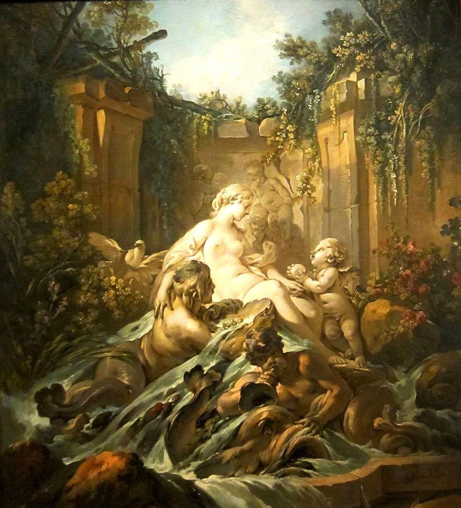 Fountain Of Venus Francois Boucher 1756 Oil