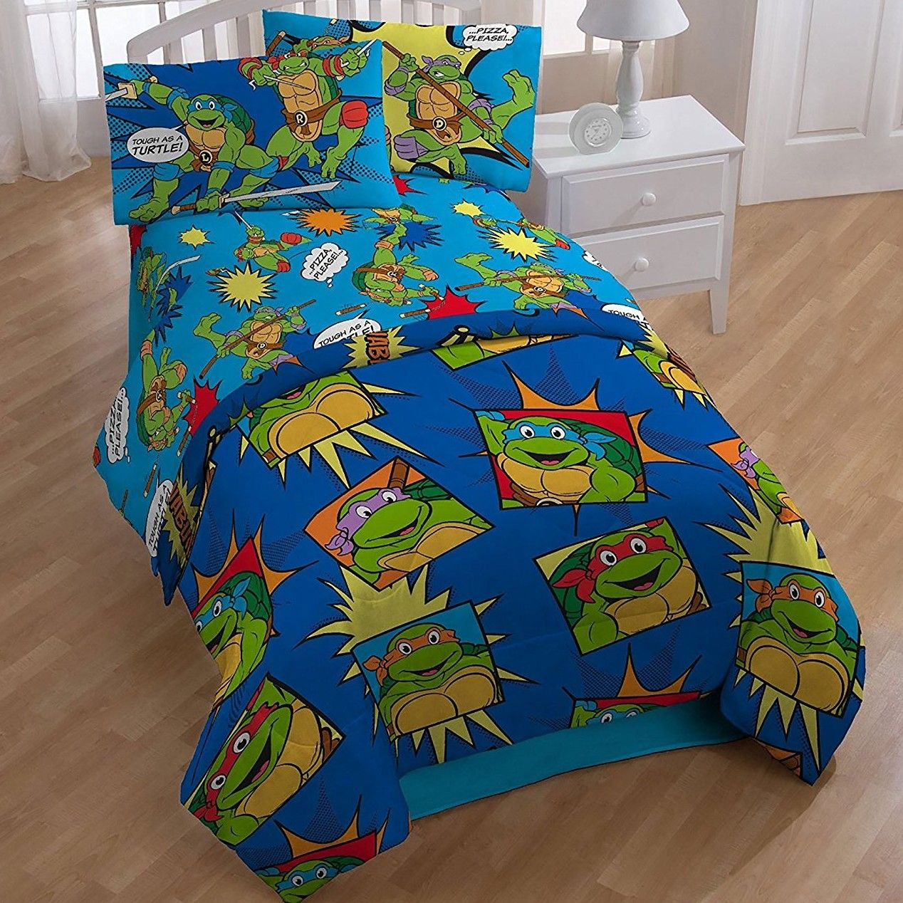 Teenage Mutant Ninja Turtle 4 Piece Toddler Bedding Set Twin Bed Sets Kids Bedding Sets Bedding Sets
