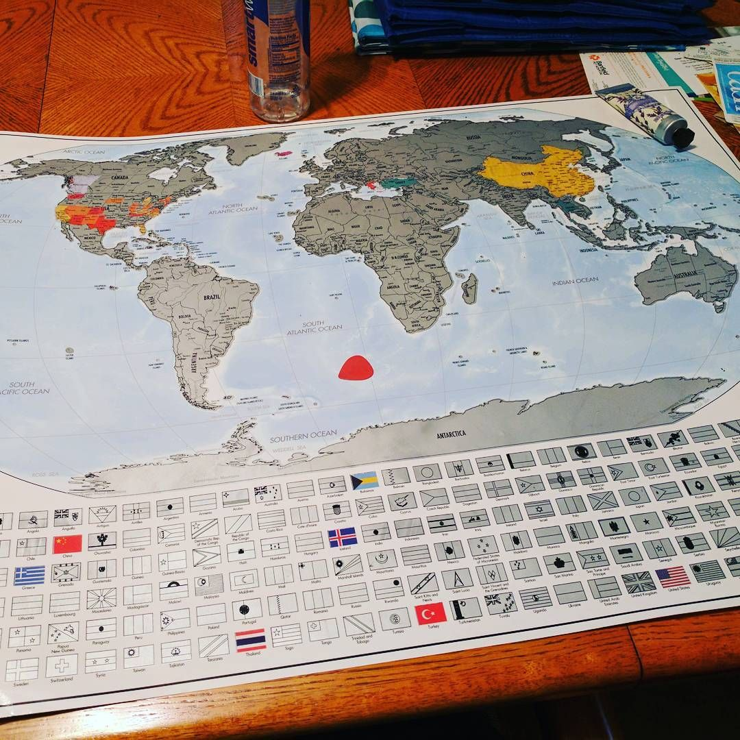 Travel tracker map platinum xl special edition map scratch off scratch off map world map travel tracker 24 x 36 made in the usa gumiabroncs Image collections