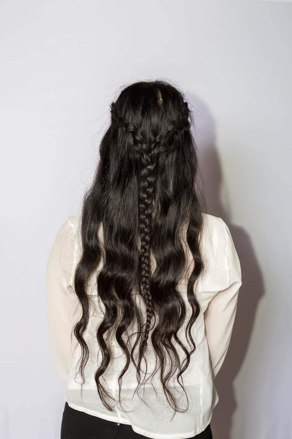 Two Pronged Braids Medieval Hairstyles Medieval Hairstyles Hair Styles Wedding Hair Down