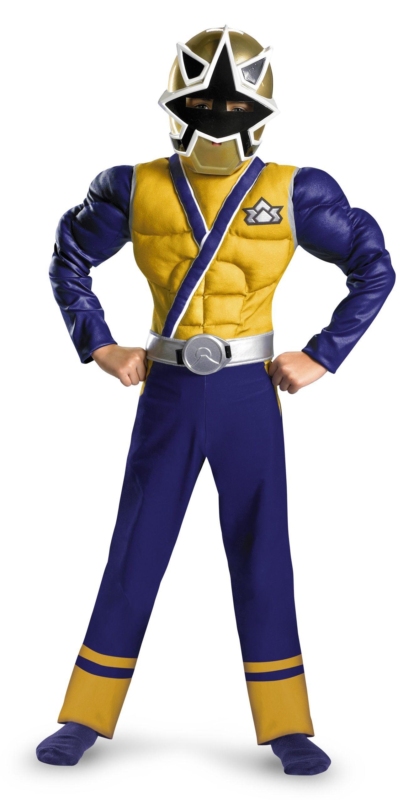 Power Ranger Samurai Gold Ranger Muscle Kids Costume. Kids ...