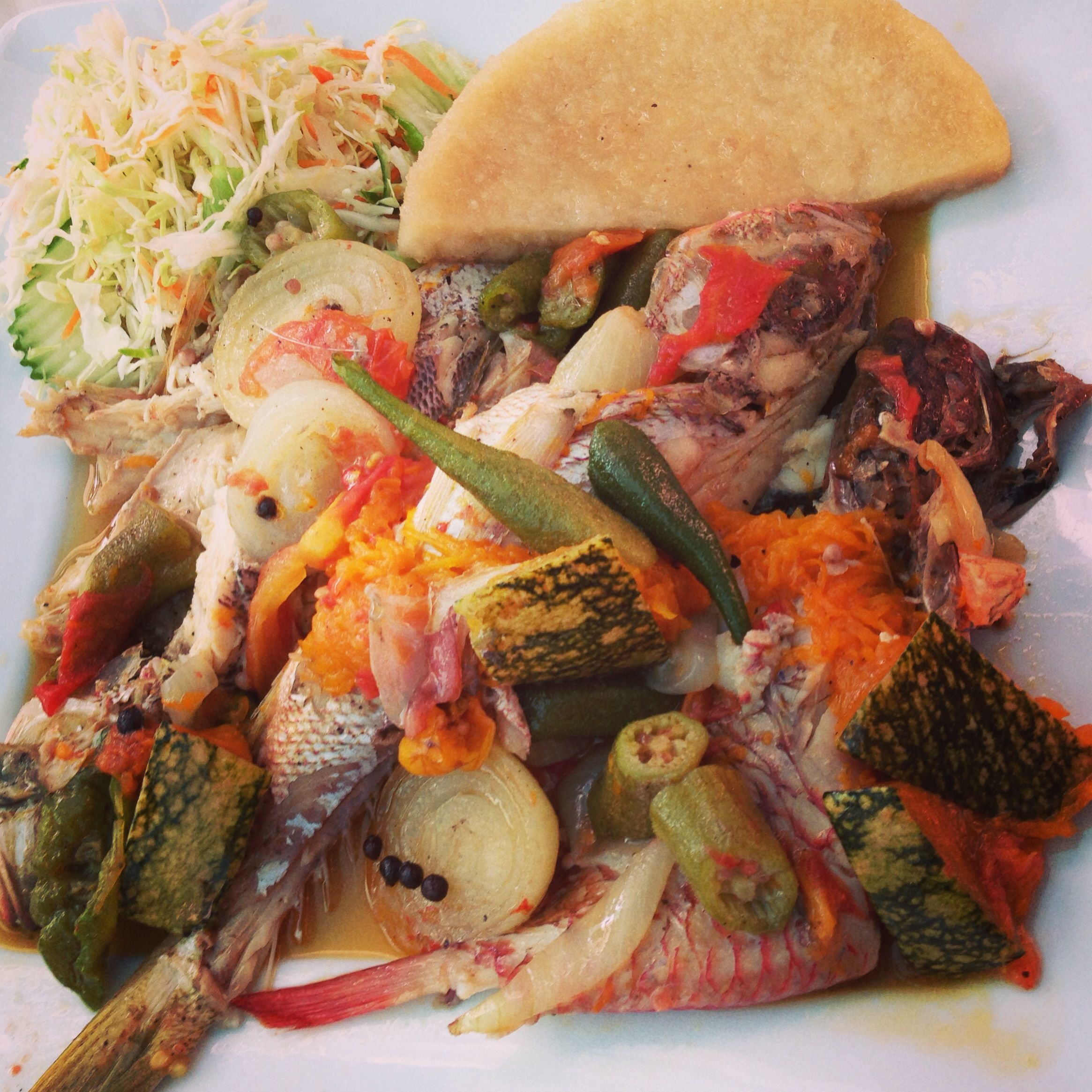 Steamed fish and bammy, Port Royal Jamaica | food | Pinterest