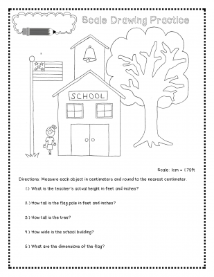 Scale Drawing Lesson and Worksheet | | scale factor | Pinterest ...