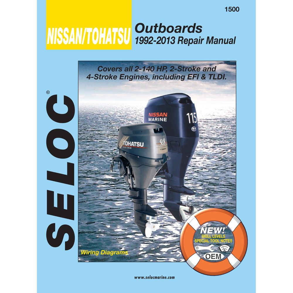 Seloc Service Manual Nissan/Tohatsu Outboards 1992-2013 2.5-140 HP - https