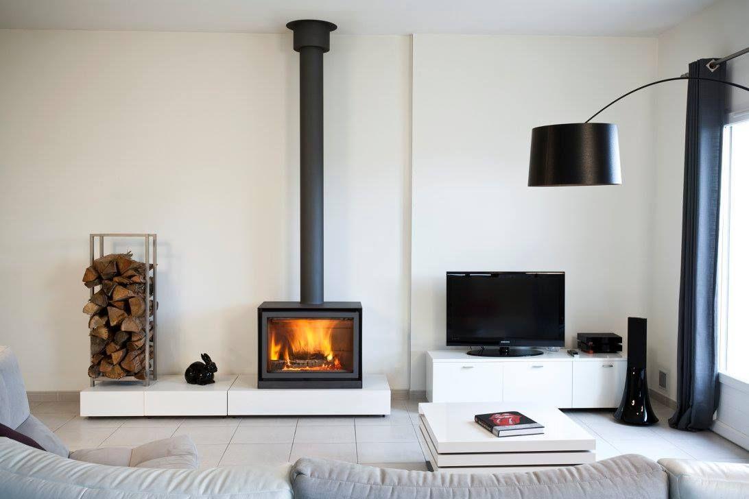Stûv 16 Cube By Cheminées Barthélémy Diaz Freestanding Fireplace Log Burner Wood Burning Stoves Living Room