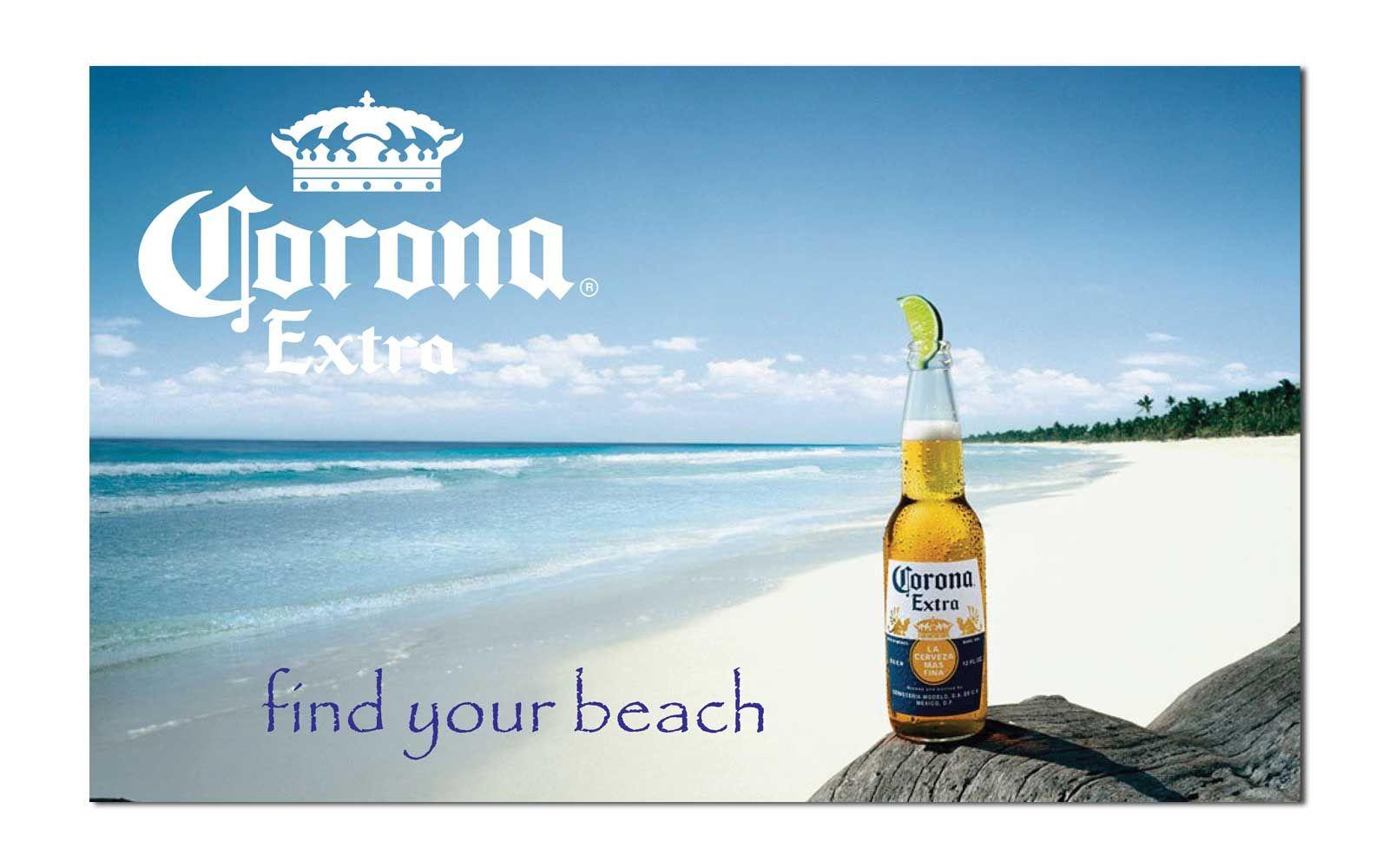 "Corona Beer ""find your beach"" Novelty 3'x 5' Beer Flag ..."