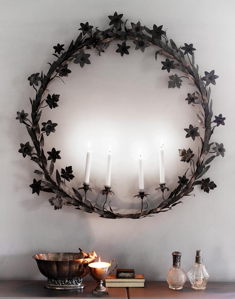 Advent wall wreath