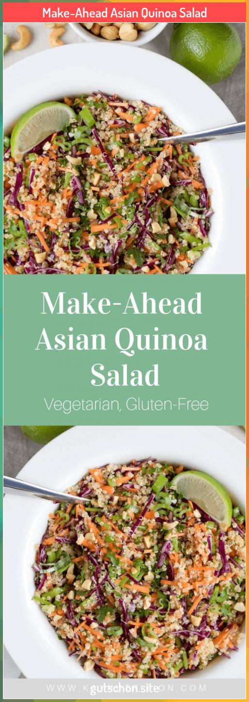 Make-Ahead Asian Quinoa Salad #ahead #asian #MakeAhead #quinoa #salad