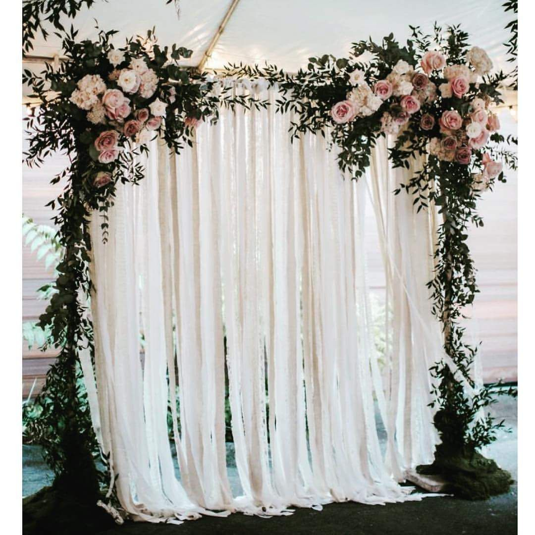 Ribbon Wedding Altar: 44 Eye-catching Wedding Ceremony Arches And Altars To Make