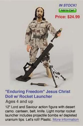 enduring freedom jesus christ action figure Blatant, yes, but missing the point more, lol.