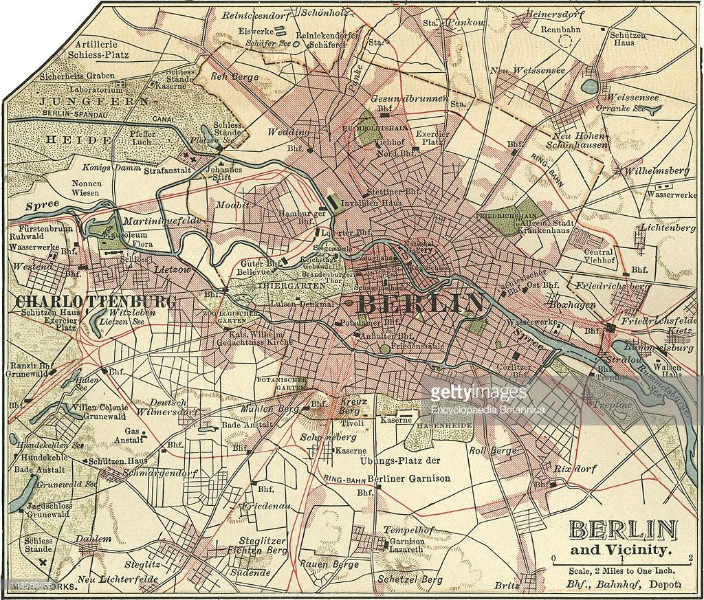 Map Of Berlin Map Of The City Of Berlin And Vicinity Germany - Map 9f germany