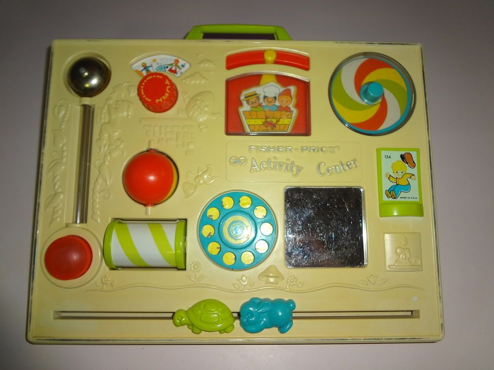 Vintage 70 S Fisher Price Busy Box Activity Center Baby Crib Toy